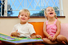 Happy story time Stock Photo