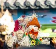 Happy straw doll Stock Photos