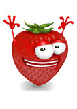 Happy strawberry Royalty Free Stock Photography
