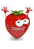Happy strawberry Royalty Free Stock Photography