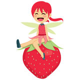 Happy Strawberry Fairy Royalty Free Stock Images