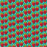 Happy strawberry pattern Royalty Free Stock Images