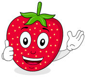 Happy Strawberry Thumbs Up Character Royalty Free Stock Images