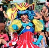 A happy street performer at Disneyworld Royalty Free Stock Image