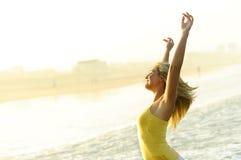Happy, stress free woman Stock Photos