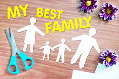 Happy strong family Stock Photos