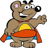 Happy Strong Super Hero Bear Royalty Free Stock Photography