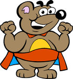 Happy Strong Super Hero Bear Royalty Free Stock Image