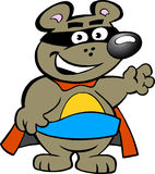 Happy Strong Super Hero Bear Royalty Free Stock Photos