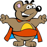 Happy Strong Super Hero Bear Stock Images