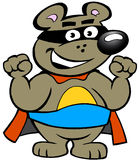 Happy Strong Super Hero Bear Stock Photo