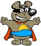 Happy Strong Super Hero Bear Stock Photo