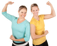 Happy Strong Women Royalty Free Stock Photo