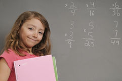 Happy Student. Young elementary age student proud of her accomplishments Stock Photography
