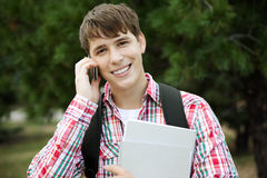 Happy student Stock Image