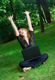 Happy student. Royalty Free Stock Images
