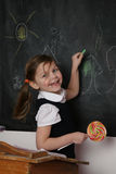 Happy Student at Blackboard Royalty Free Stock Images