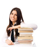 Happy student with books Royalty Free Stock Photography