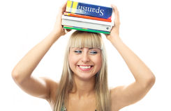 Happy student with books Stock Photos