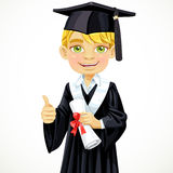 Happy student  boy holding a diploma Stock Photography