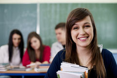 Happy student in the classroom Royalty Free Stock Images