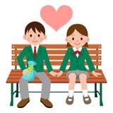 Happy student couple Royalty Free Stock Photos