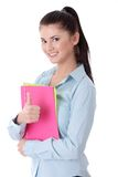 Happy student girl Stock Photography
