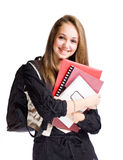 Happy student girl Royalty Free Stock Photos