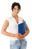 Happy student girl Royalty Free Stock Image