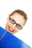 Happy student girl Stock Images