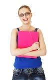 Happy student girl Stock Photos