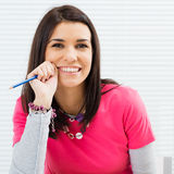 Happy Student Girl Royalty Free Stock Photography