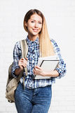 Happy student girl. Attractive happy student girl portrait Royalty Free Stock Photography