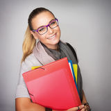 Happy student girl Royalty Free Stock Images