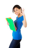 Happy student girl gesturing perfect, Stock Photo