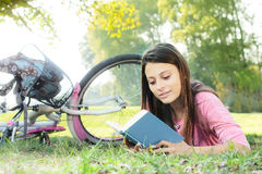 Happy student girl relaxing Stock Photography