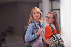 Happy student girls Royalty Free Stock Photography