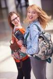 Happy student girls Stock Photo