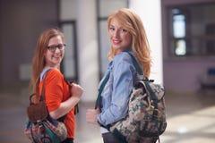 Happy student girls Stock Image