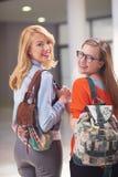 Happy student girls Royalty Free Stock Photos