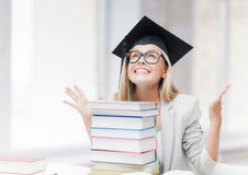 Happy student in graduation cap Royalty Free Stock Photo
