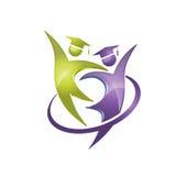 Happy student graduation logo Stock Photo