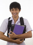 Happy student holding books Stock Images