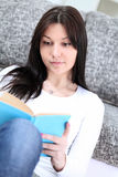 Happy student learning at home Royalty Free Stock Images