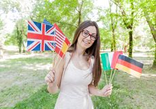 Happy Student Learning Languages Stock Photography