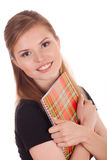 Happy student with a notebook Royalty Free Stock Images