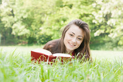Happy student outdoors relaxed Stock Photos