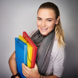 Happy student portrait Stock Photography