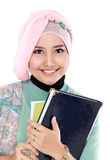 Happy student portrait holding a few books Royalty Free Stock Photography