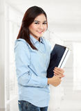 Happy student ready go to campus Stock Photo
